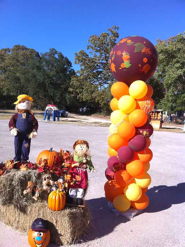 balloon columns fall